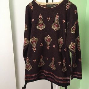 Jeanne Pierre lambs wool blend tunic sweater